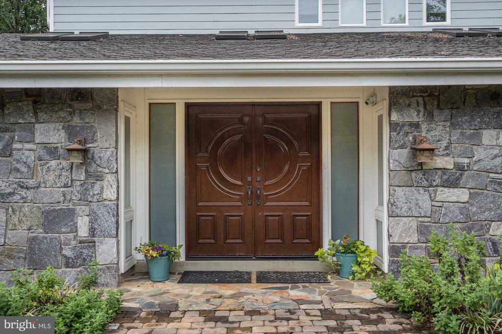 Entrance with Double Wood Doors - 3502 PINETREE TER, FALLS CHURCH