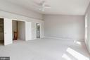 Master Bedroom with Vaulted Ceilings - 4153 CHURCHMAN WAY #5, WOODBRIDGE