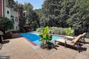 Lush landscape surrounds the backyard oasis - 1298 STAMFORD WAY, RESTON