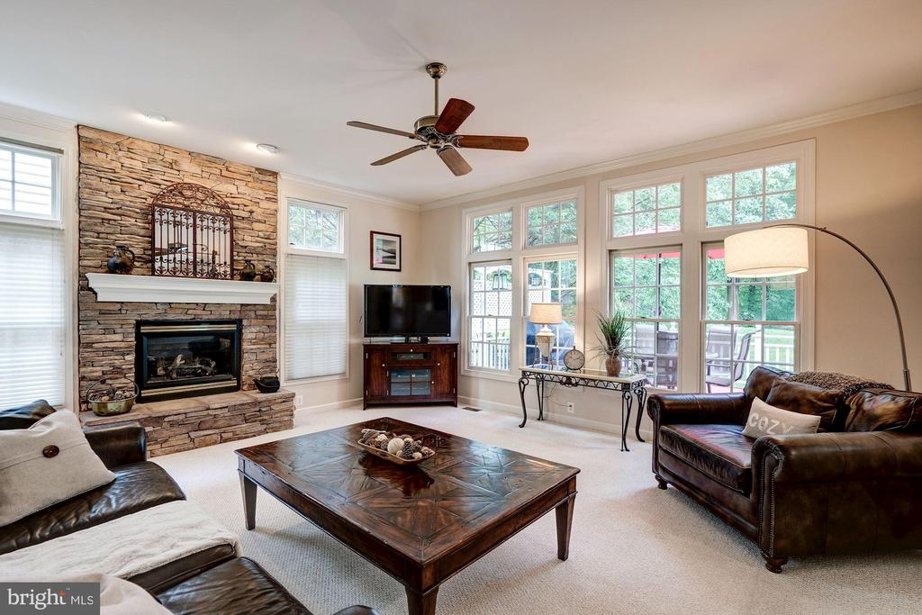 Cozy family room w/gas fireplace - 47297 OX BOW CIR, STERLING