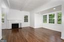 Open and Bright living with wood fireplace - 4861 BLAGDEN AVE NW, WASHINGTON