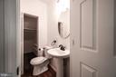 Main level Half bath with storage - 4861 BLAGDEN AVE NW, WASHINGTON