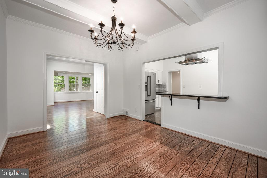 Formal Dining Room open to kitchen - 4861 BLAGDEN AVE NW, WASHINGTON