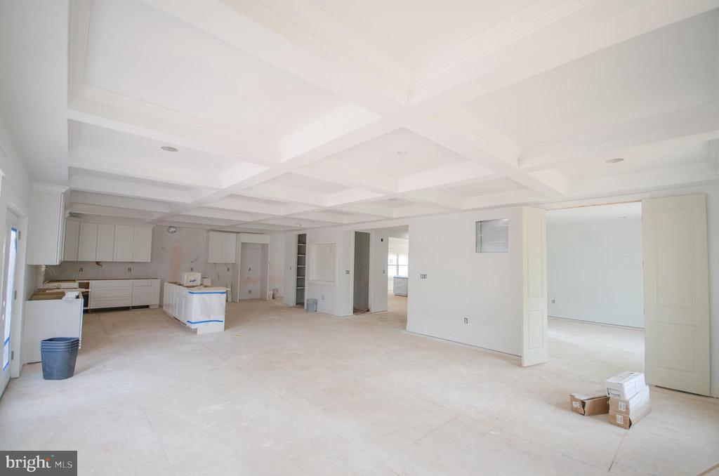 Family room w/coffered ceilings - 12602 THOMPSON RD, FAIRFAX