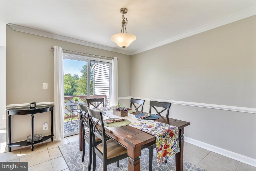 Dining Room with Access to the Deck - 21252 HEDGEROW TER, ASHBURN
