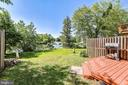 Backyard directly on the Pond - 21252 HEDGEROW TER, ASHBURN