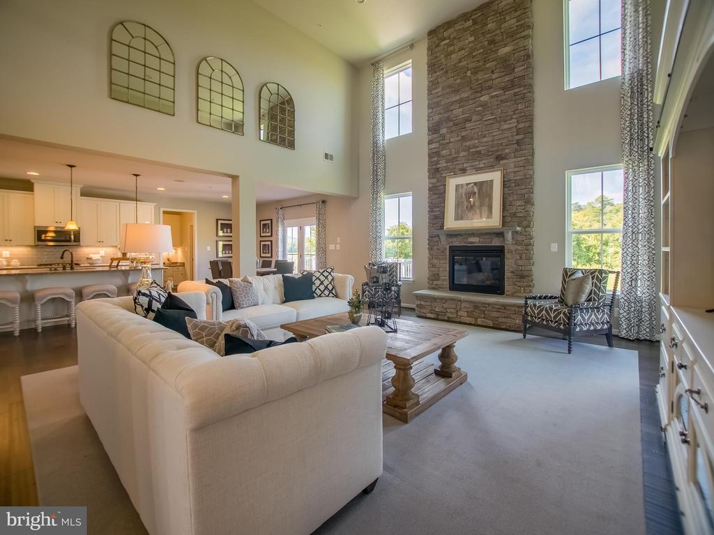 beautiful two story living room - 217 BRASHEARS CT, WALKERSVILLE