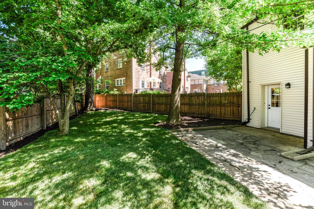 Great yard w/ flagstone patio and privacy fence - 4861 BLAGDEN AVE NW, WASHINGTON