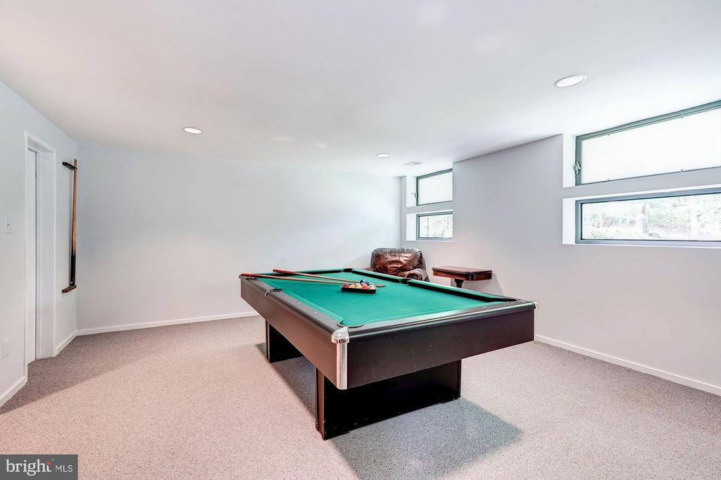 Lower level recreation room - 2272 COMPASS POINT LN, RESTON