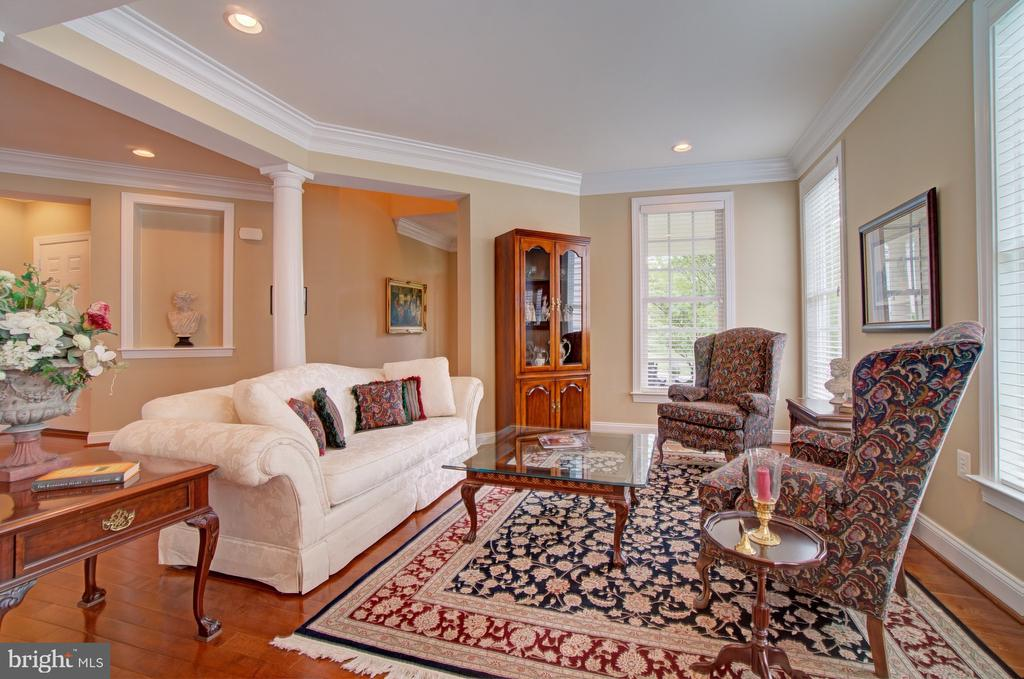 Formal Living Room Features Upgraded Trim Work - 42436 MORELAND POINT CT, ASHBURN