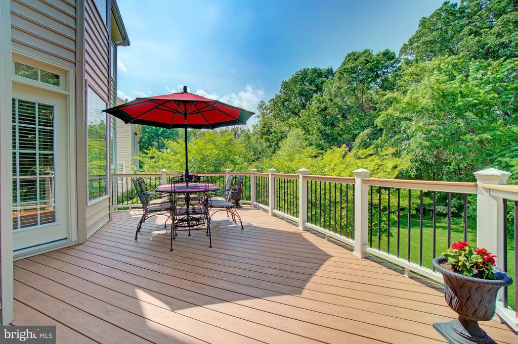 Large Trex Deck with Stairs to Rear Yard - 42436 MORELAND POINT CT, ASHBURN