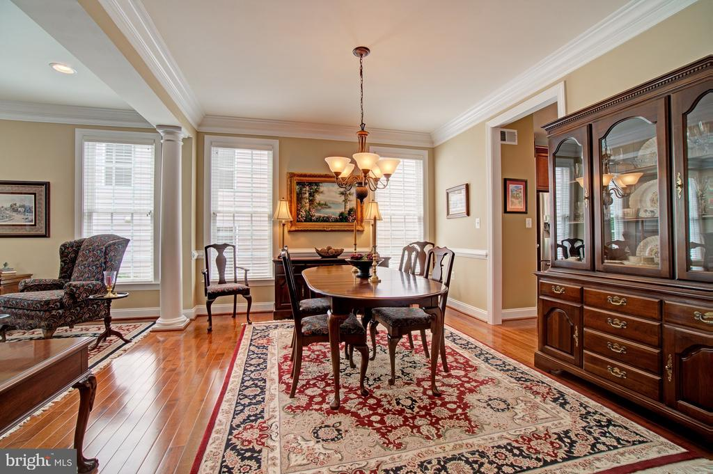Formal Dining Room also has Upgraded Trim Work - 42436 MORELAND POINT CT, ASHBURN