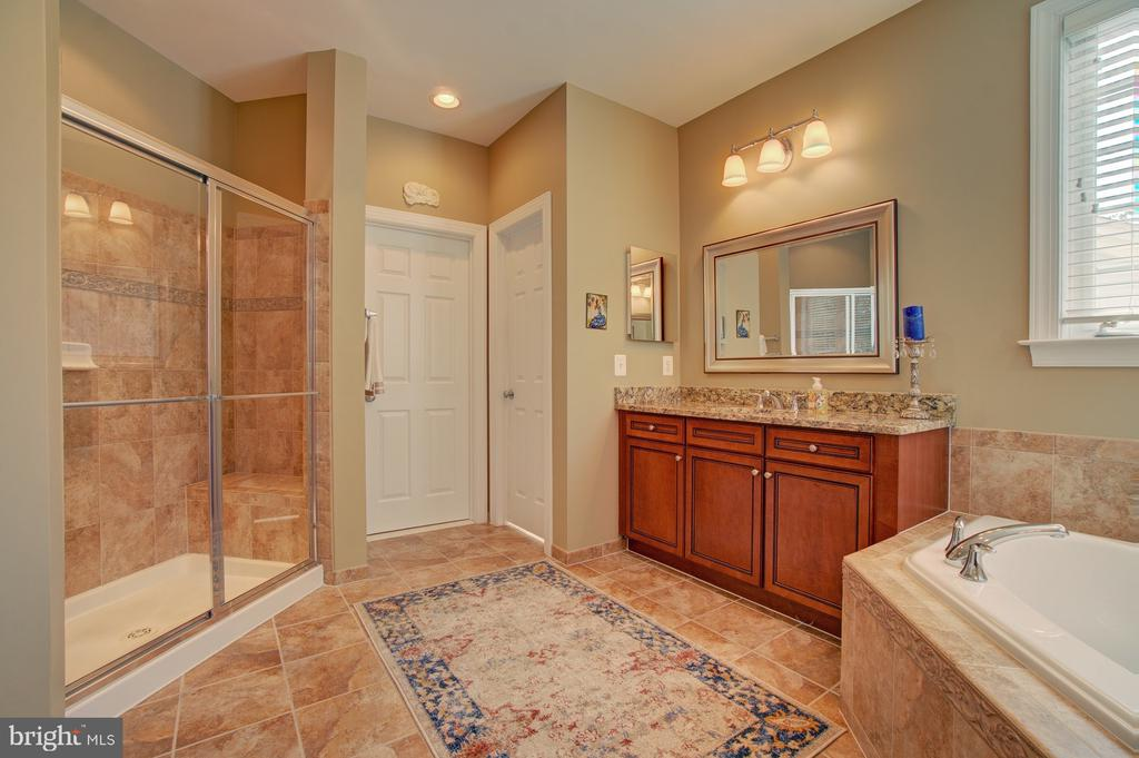 Luxury Owner's Bath with Tub & Separate Shower - 42436 MORELAND POINT CT, ASHBURN