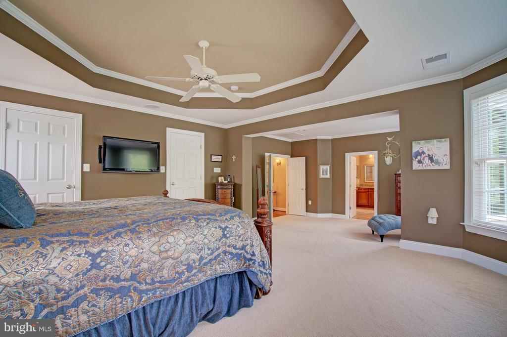 There are 3 Walk-in Closets in the Master Bedroom - 42436 MORELAND POINT CT, ASHBURN