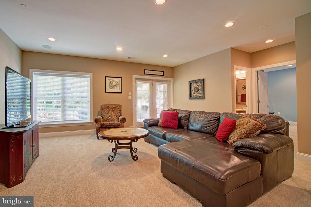 Lower Level Family Room w/French Door to Rear Yard - 42436 MORELAND POINT CT, ASHBURN