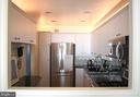 Kitchen with stainless appliances - 1200 N NASH ST #855, ARLINGTON