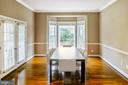 Open Dining room -10ft ceiling height - 4617 HOLIDAY LN, FAIRFAX