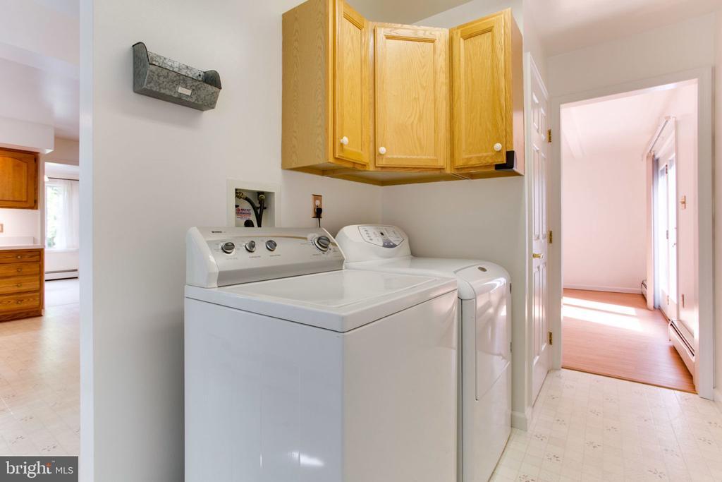 Main Floor Laundry  Room-Full Size Washer/Dryer - 6800 TOKEN VALLEY RD, MANASSAS