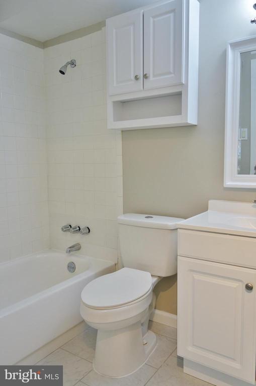 Updated full hall bath - 11236 CHESTNUT GROVE SQ #161, RESTON