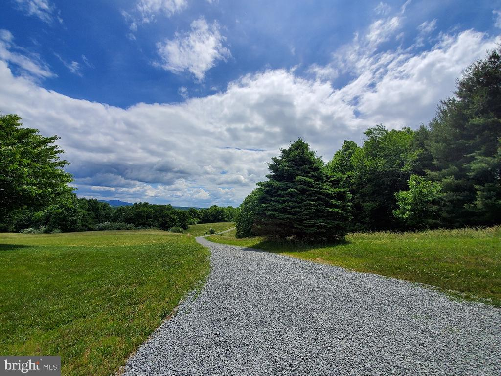 View of your private drive from garage area - 42064 BLACK WALNUT LN, LEESBURG