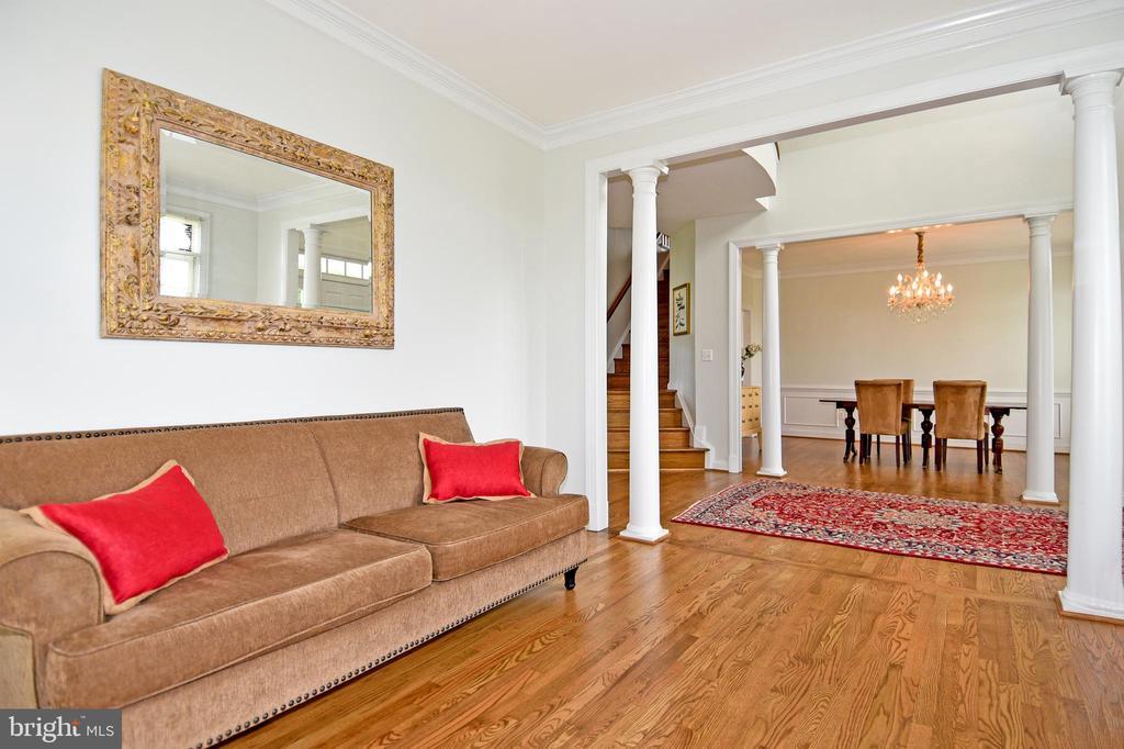 Spacious living room off foyer/dining room - 42324 BIG SPRINGS CT, LEESBURG