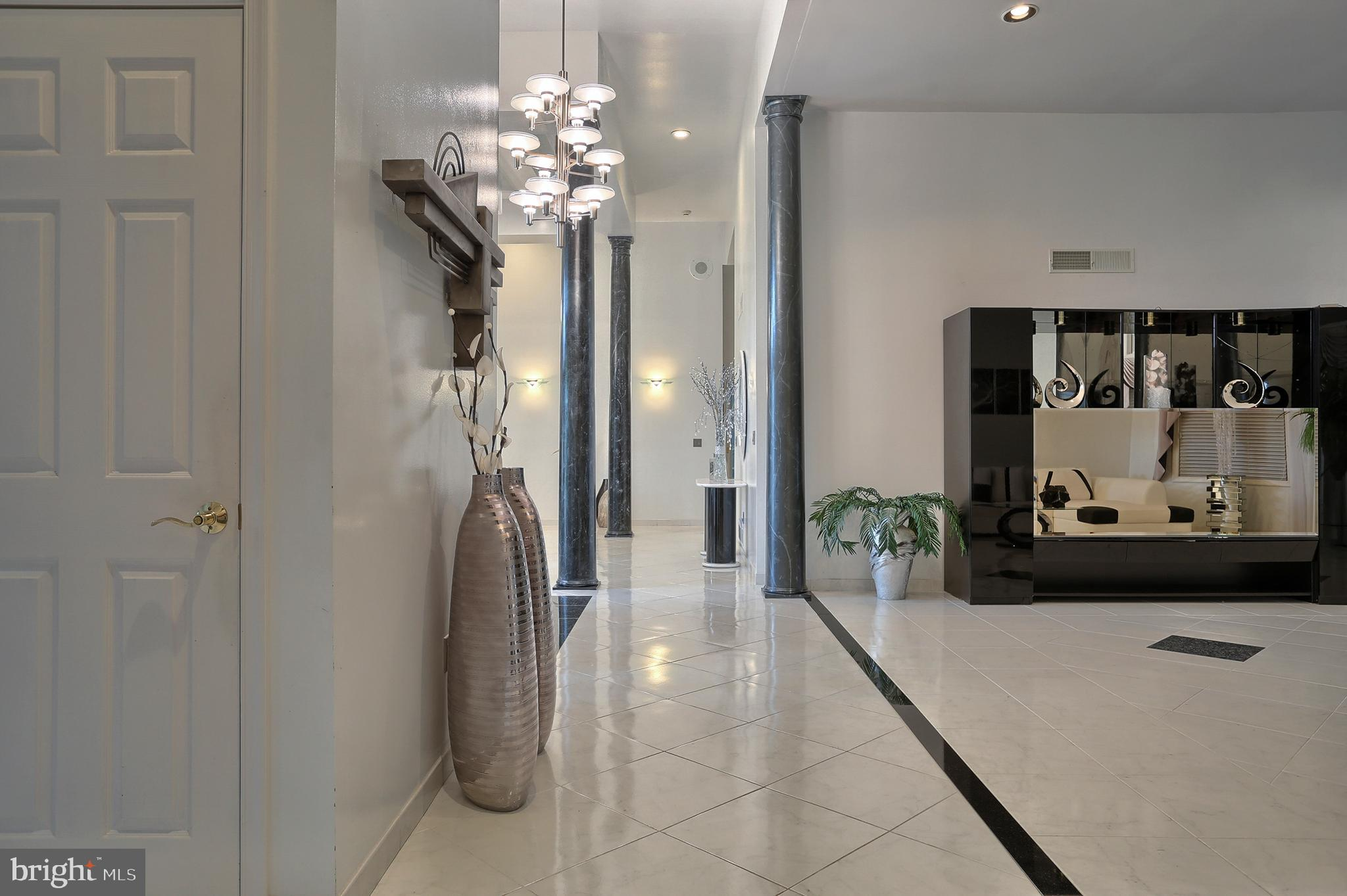 hallway from foyer to formal living room