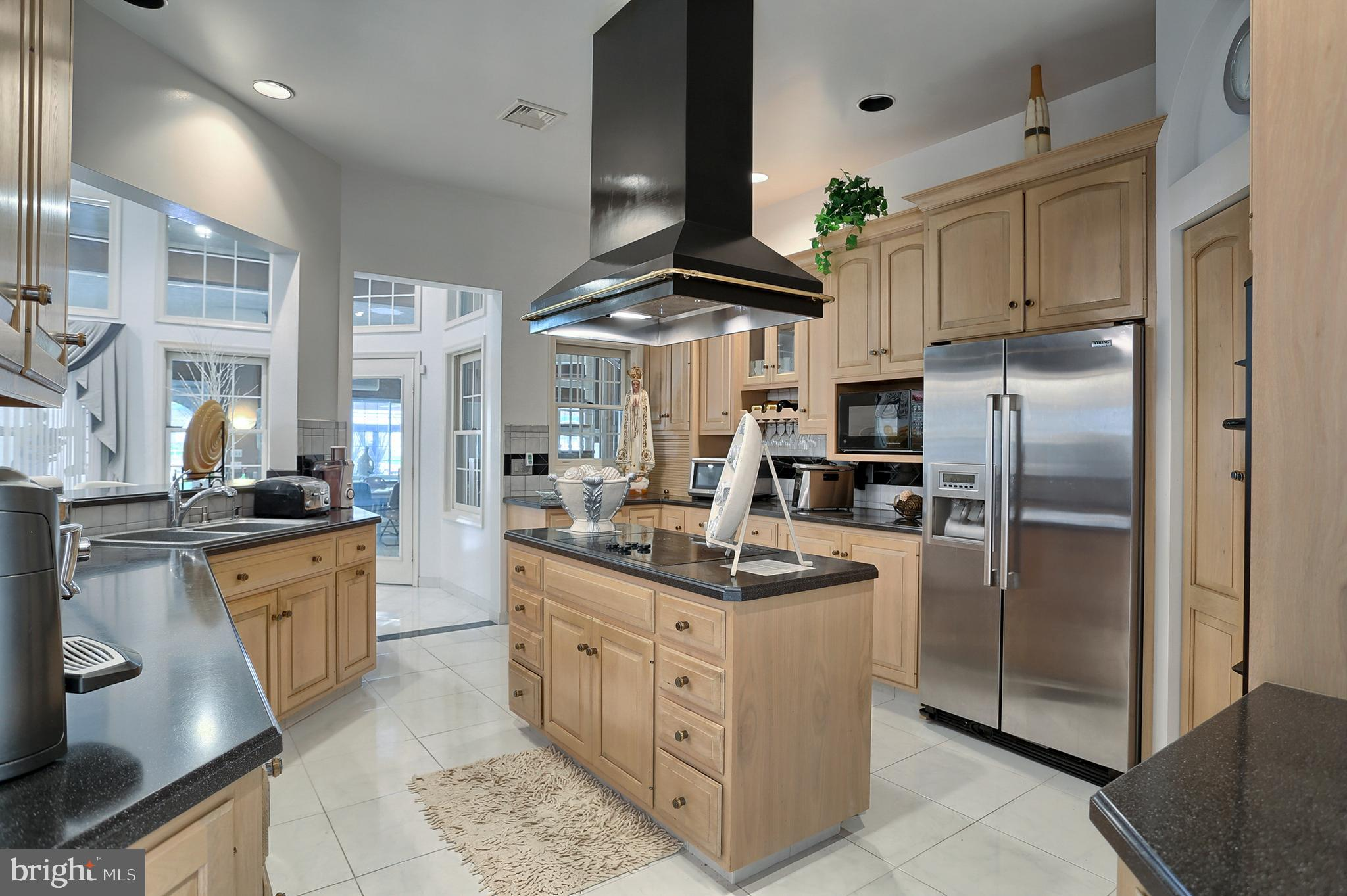 Corian counter tops and stainless appliances