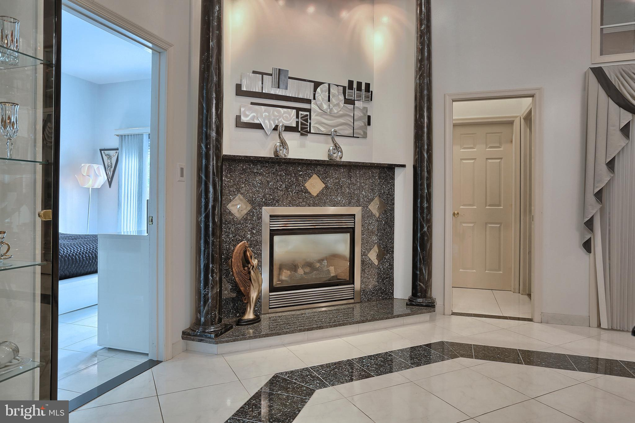 and gas fireplace