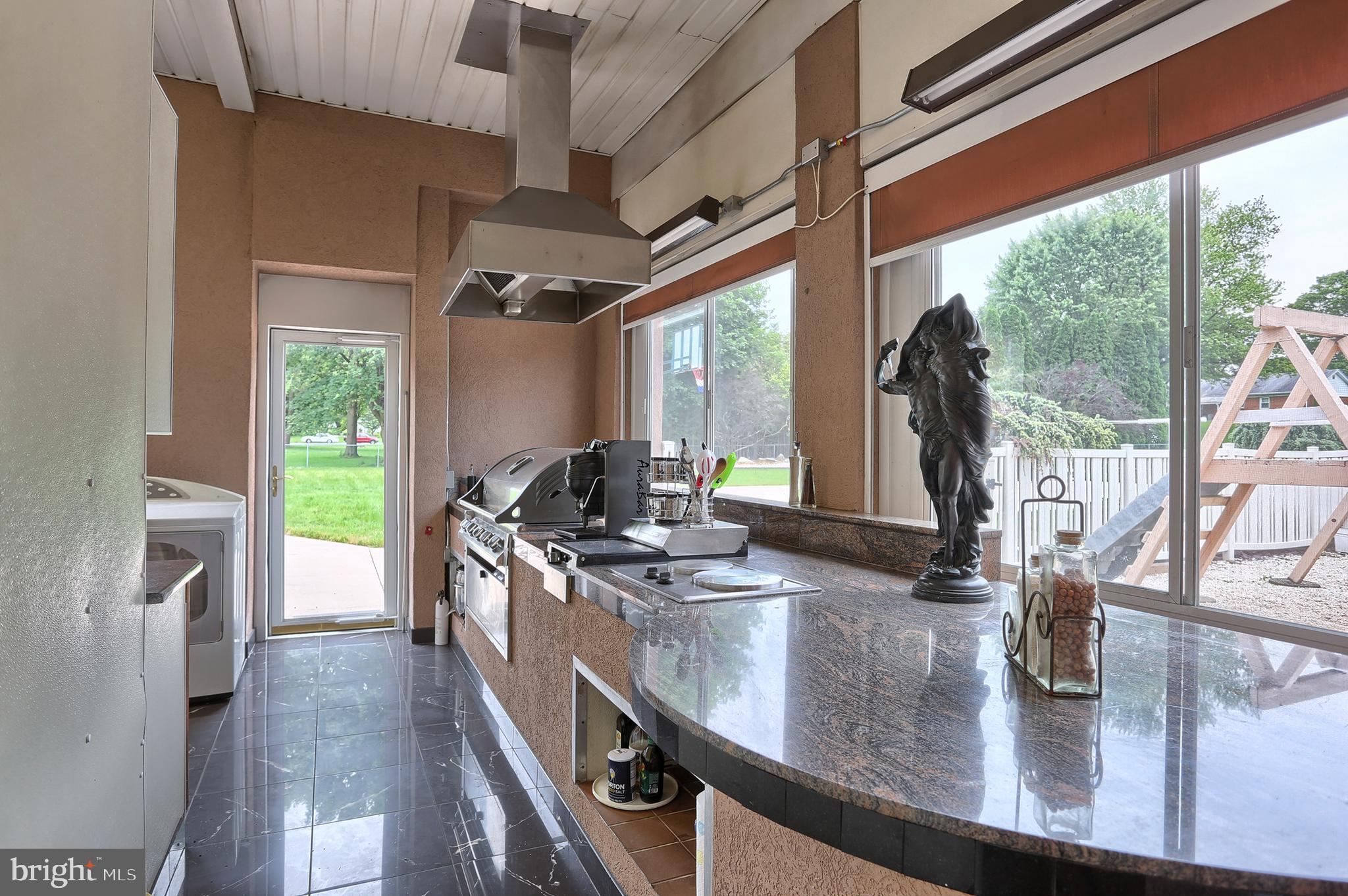 exterior kitchen # 3   with built in gas grill
