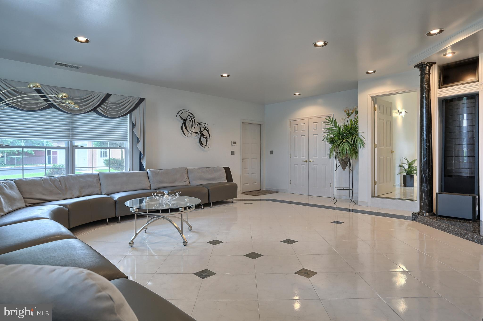 porcelain tile floors with granite accents