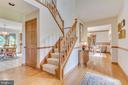 Welcoming foyer has hardwood flooring - 803 HORIZON WAY, MARTINSBURG