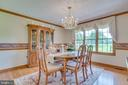Hardwood continues in the large dining room - 803 HORIZON WAY, MARTINSBURG