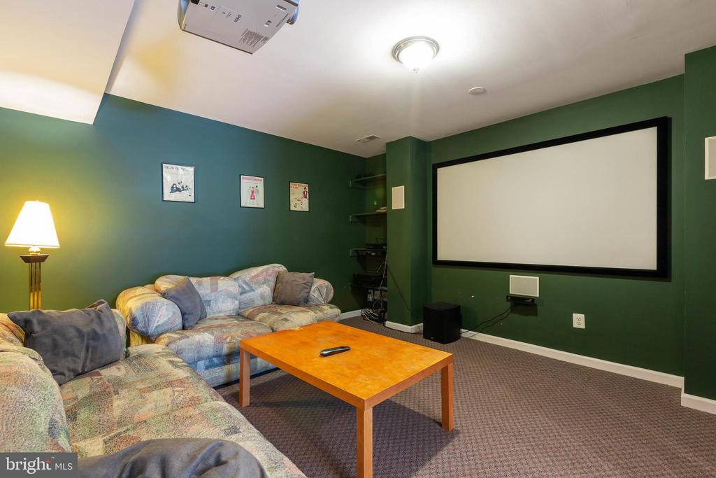 Lower Level Media Room - 9413 PRIMROSE LN, MANASSAS PARK