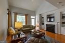 Family  Room with Fireplace and Built-ins - 9413 PRIMROSE LN, MANASSAS PARK