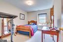 Bedroom 3 has neutral paint and carpeting - 803 HORIZON WAY, MARTINSBURG