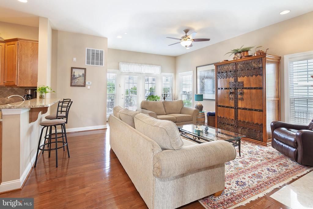 Gas log fireplace in family gathering area! - 6313 STILL SPRING PL, ALEXANDRIA