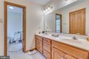 Master bath has extended double bowl vanity - 803 HORIZON WAY, MARTINSBURG
