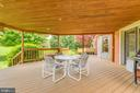 Large covered deck on the rear of the home - 803 HORIZON WAY, MARTINSBURG
