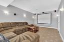 Lower Level Media Room - 18131 PERTHSHIRE CT, LEESBURG