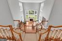 Family Room View from Upper Level Landing - 18131 PERTHSHIRE CT, LEESBURG