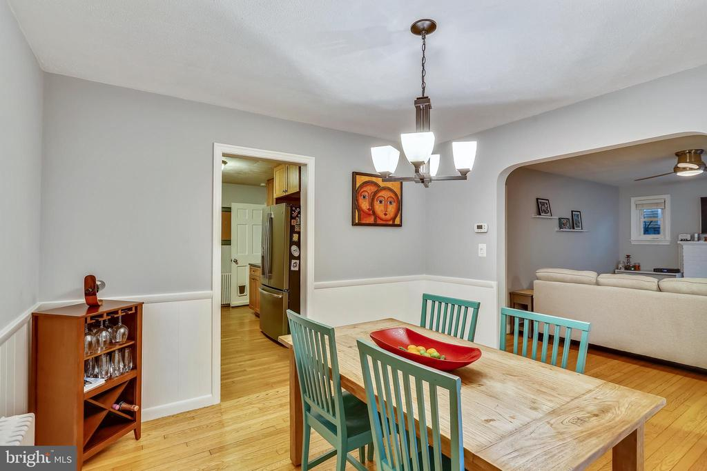 Plenty  of space in Dining Room. - 2418 HURST ST, FALLS CHURCH
