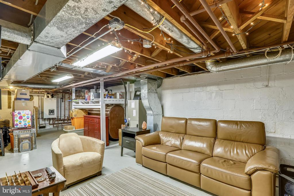 Open basement very useful as is - or create rooms. - 2418 HURST ST, FALLS CHURCH