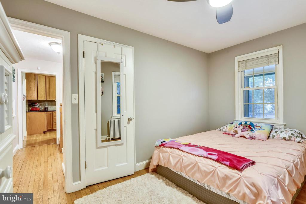 Main Floor Bedroom is well sized. - 2418 HURST ST, FALLS CHURCH