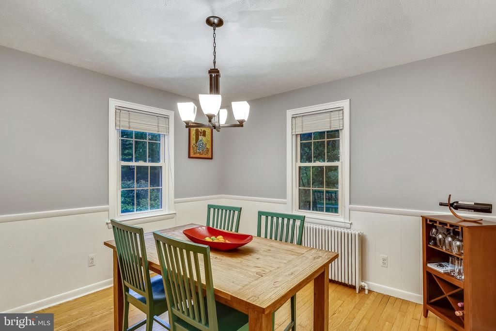 Windows on two sides make dining room perfect. - 2418 HURST ST, FALLS CHURCH