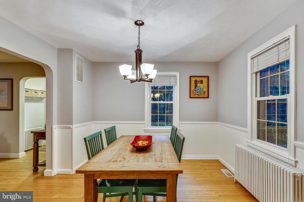View from Kitchen into Dining Room. - 2418 HURST ST, FALLS CHURCH