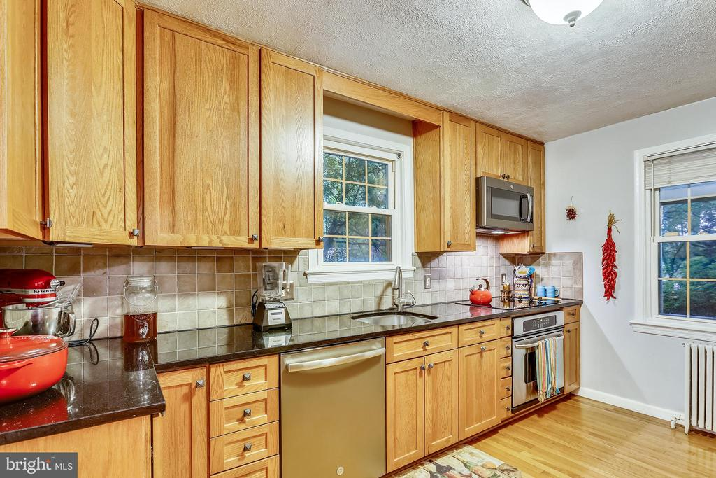 Windows on two walls in remodeled Kitchen . - 2418 HURST ST, FALLS CHURCH