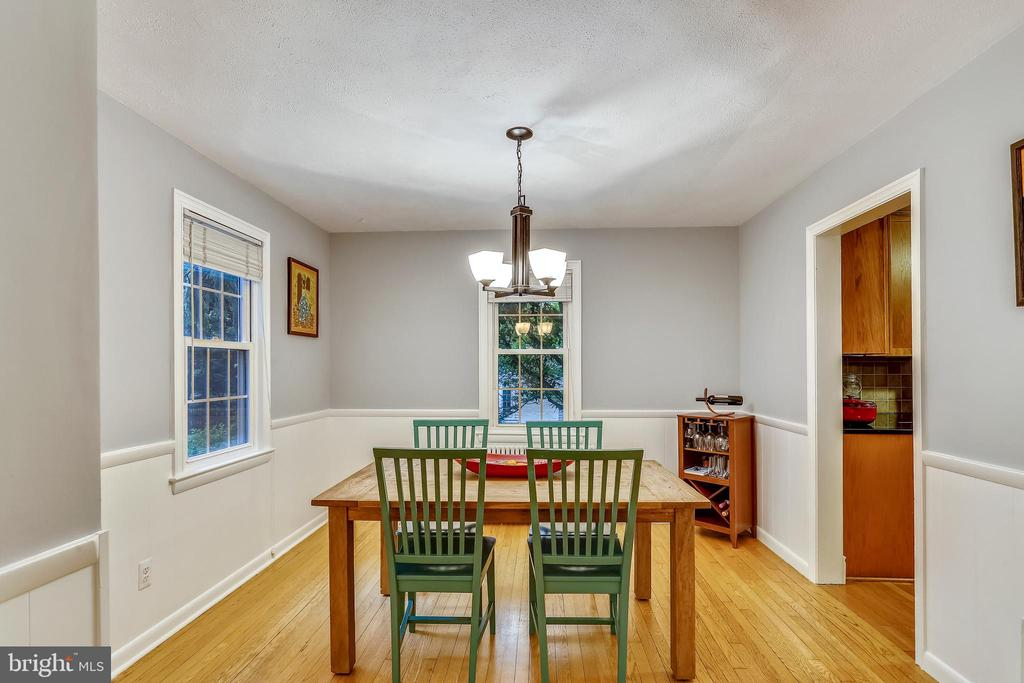 View from Living Room into Dining Room. - 2418 HURST ST, FALLS CHURCH