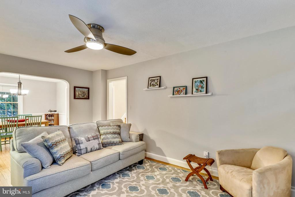 Living Room - with Dining steps away. - 2418 HURST ST, FALLS CHURCH