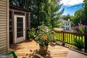 Deck  with access from the kitchen - 14864 SWALLOW CT, WOODBRIDGE