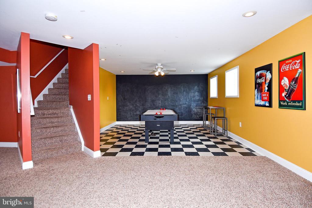 Lower level game room - 42324 BIG SPRINGS CT, LEESBURG